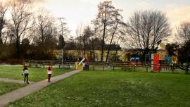 Willow Park playground and green in Balsall