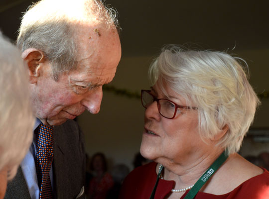 Sheila Onions BEM, chats to the Duke of Kent