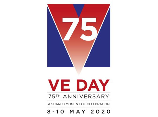 VE Day 75th Anniversary Logo