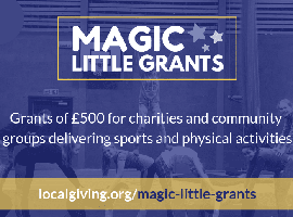 Grants of £500 for charities and communtiy groups delivering sports and physical activities