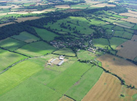 Ariel view of Radway - image taken from Radway Parish Council Website