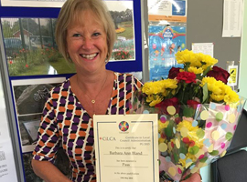 Barbara Bland, Clerk to Meriden Parish Council with her CiLCA certificate